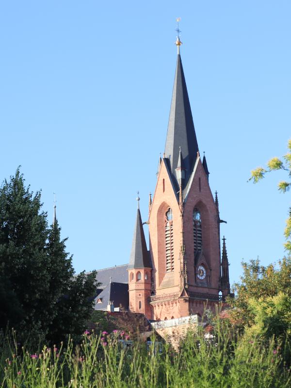 Blick auf die Josefskirche St. Ingbert